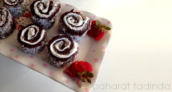 Kakaolu kremalı rulo pasta (Sultan Lokumu)