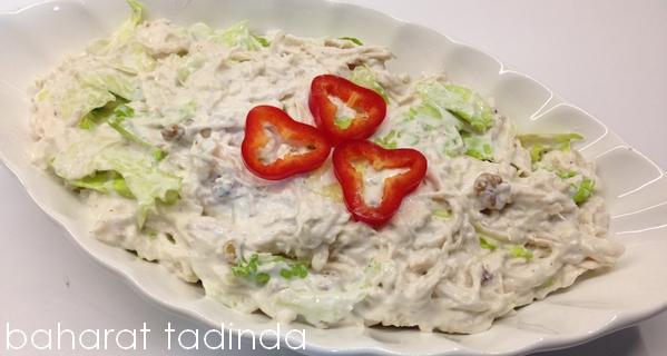 Cevizli Mayonezli Tavuk Salatası